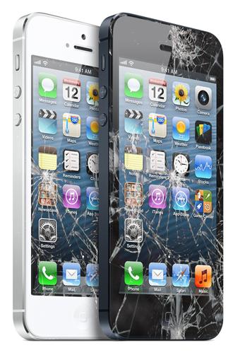 Zamena polomljenih iPhone ekrana i touch screen-ova.