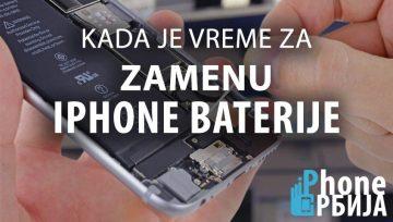 Kada je potrebno zameniti iPhone bateriju