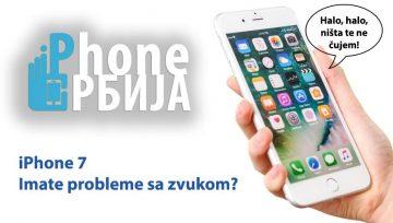 iPhone 7 - problemi sa zvukom